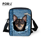 Hot Women Messenger Bags Cute Animal Denim Pet Cat Dog Crossbody Bag