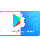Google Play and iTunes Gift Card $10 $15 $25 $50 $100