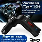 Wireless Bluetooth Car FM Transmitter Kit MP3 Player USB Charger Music Receiver
