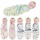 US Fast Baby Swaddle Wrap Soft Comfort Plush Blanket Swaddling Warm Sleeping Bag