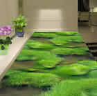 Fresh Dense Grass 3D Floor Mural Photo Flooring Wallpaper Home Print Decoration