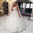 Luxury Beading Crytsal Straps Ball Bridal Gown Backless A Line Wedding Dress New