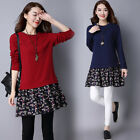 process of joining the navy - new Autumn winter Korean fashion elegant thicken Joining together loose dress
