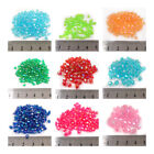 BICONE FACETED *AB* ACRYLIC BEADS *2 SIZES**10 COLOURS* BEADING JEWELLERY MAKING
