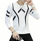 Fashion Men Slim Fit Crew Neck Long Sleeve Muscle Tee T-shirt Casual Top O1364