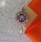 NEW CUTE RING !!! 4.00MM STONE AMETHYST  ENGAGEMENT 925 STERLING SILVER.