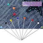 800/1000pcs Colorful Straight Round Pearl Head Pins Sewing Quilting Dressmaking