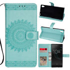 For Sony Xperia XA1 Ultra Patterned Leather Case Card Wallet Stand Strap Cover