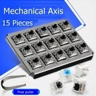 15 Piece CIY Green,Back,Blue,Red,Brown Replacement Mechanical Keyboard Axis