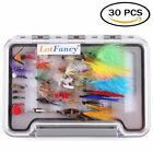Fly Fishing Lures Dry Wet Flies Tackle Box Nymph Woolly Bugger Streamers Caddis