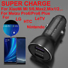 Fast Car Charger + 5A Type C Cable For XiaoMi 5 6 MAX 2 Note 2 Meizu Pro 6 Plus