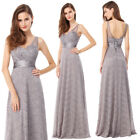 Ever-Pretty Long Formal Bridesmaid Dresses V-neck Wedding Evening Gowns 08893