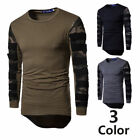 New Casual Tops Blouse Mens Slim Fit R Neck Long Sleeve Muscle Tee T-shirt O1332