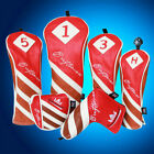 Red Golf Driver, 3 or 5 Fairway Woods & Rescue Wood Headcovers For Taylor Made