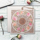 Personalised Laces Laser Cut Flower Pattern Wedding Invitations Day/Eve Free P*P