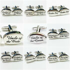 Wedding CuffLinks Role Set-Best Man, Groom, Father of the Bride,Usher,DAD Silver