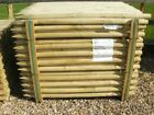 1.2m (4ft) x 50mm Round Wooden Treated Fence Posts Tree, wood
