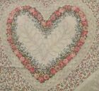 Kessler Concord cotton fabric Calico roses HEARTS cheater quilt panel choose sz
