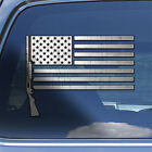 USA Flag 12 ga Decal Sticker - bird duck hunting window decal shotgun sticker