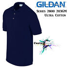 Gildan POLO Golf Jersey Collar T-SHIRT Navy Blue blank plain S-XXL Ultra Cotton