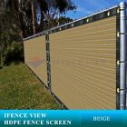 Ifenceview 5'x3'-5'x50' Beige UV Fence Privacy Screen Mesh Fabric Garden Outdoor