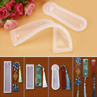 3Pcs Silicone Rectangle & Cat Claw Mould Epoxy Resin Jewelry Making Bookmark DIY