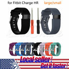 US Sport Silicone Replacement Wristband Watch Band Strap For Fitbit Charge HR 10