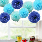 9 Pack Mixed Tissue Paper Pompom Pom Poms Hanging Garland Wedding Party Decor