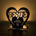 Personalised Tea Light Heart Candle Holder For BESTIE Best Friend Birthday Gift