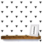 100 Triangle Wall Stickers Decal Vinyl Art Decor  4 Different Sizes 0139