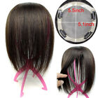"6~20inch Mono Base 5.1''x5.5"" Women Men 100% Human Hair Topper Toupee Hairpiece"
