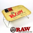RAW Natural Unrefined Rolling Papers XXL Lap Metal Tray with Kickstand Bottom