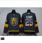 Vegas Golden Knights #29 Marc Andre Fleury Gray USA Flag Jersey SIZE M-3XL