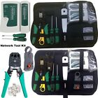 RJ45 Ethernet Network Lan Cable Tester Crimping Crimper Stripper Cutter Tool Kit