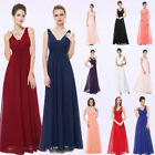 Ever-Pretty Long Formal Bridesmaid Dresses Chiffon V-Neck Wedding Gowns 08110
