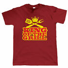 King Of The Grill Funny BBQ T Shirt, Fathers Day Birthday Gift Barbecue Smoker