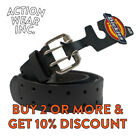 Dickies Mens LEATHER BELT Two Hole Double Prong Bridle HEAVY DUTY Work Belt