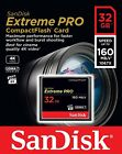 Sandisk 32GB 64GB 128GB Compact Flash Extreme Pro 160MB/s SDCFXPS