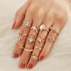Fashion Silver Gold Boho Stack Plain Above Knuckle Ring Midi Finger Rings Set UK