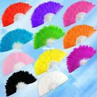 Fluffy Soft Feather Costume Hand Folding Fan 11 Colors 4983719