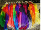 Limited supply! 1 pair best silk&color 1.1m*0.8m silk fan veil for children,+bag