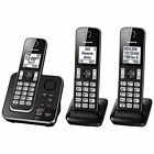 Panasonic DECT 6.0 Cordless Home Phone 3 Handset Answering System Caller ID NEW