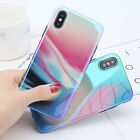 Luxury Aurora Gradient Color Ultra Thin Soft Back Case For iPhone X 8 Plus 7 6S