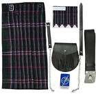 Tartanista Men's Scottish National 5 pc Kilt Kit - Kilt Sporran Pin Belt Flash