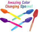 favourite colour - FUN! Color Changing Spoons, Party Favorites Reusable Recyclable Eco Friendly NEW