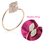 12/24/48Pcs Rhinestone Napkin Ring Set Serviette Buckle Holder Wedding Dinner