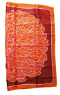 """Vtg Totes Orange Color Geometric Floral Abstract Water Repellent Rain Scarf 27"""""""