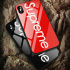 Fashion Supreme For iPhone X 7 8 Plus Case Shockproof Tempered Glass Back Cover