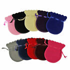 Jewelry Bags Pouches Mini Oval Velvet Drawstring Wedding Favor Bag Gifts Colors