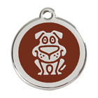 Red Dingo Dog Cat Pet ID Tags Charms FREE Personalized Engraving DOG